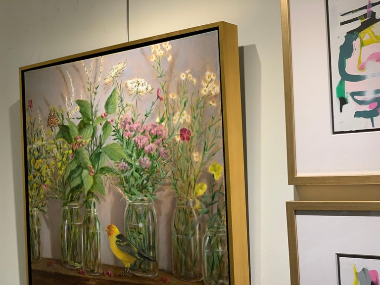 High Summer by Ginny Williams, Framed Realist Still-Life Painting For Sale 4