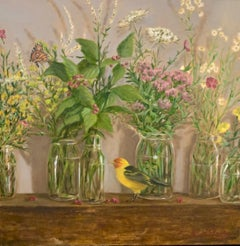 High Summer by Ginny Williams, Framed Realist Still-Life Painting