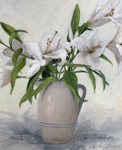 Innocence by Ginny Williams, Framed Realist Art in White
