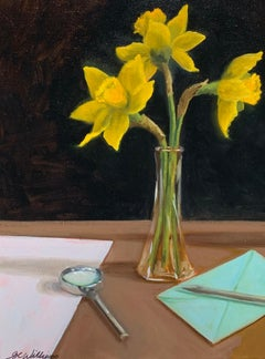 Searching for Signs of Spring by Ginny Williams, Framed Realist Painting