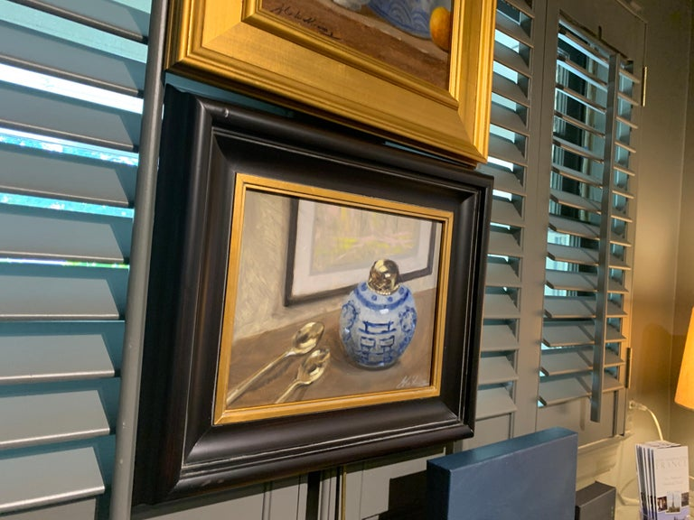 Still Life With Blue by Ginny Williams Framed Oil on Canvas Still Life For Sale 2