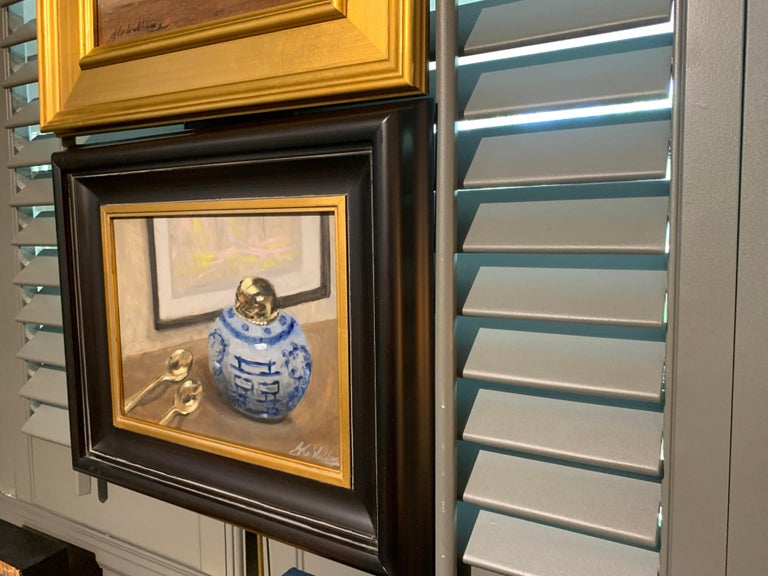 Still Life With Blue by Ginny Williams Framed Oil on Canvas Still Life For Sale 5