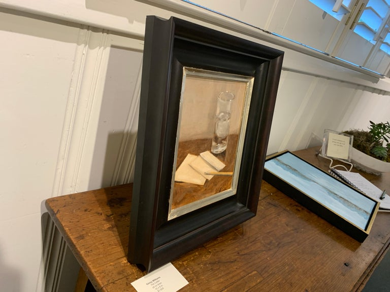 The Letter by Ginny Williams, Small Framed Oil on Linen Realist Painting For Sale 6