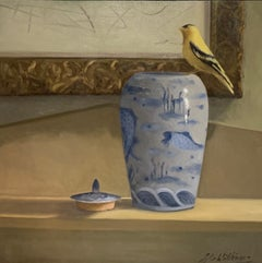 The Open Window by Ginny Williams Oil on Linen Still-Life Painting