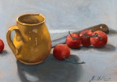 The Yellow Pitcher by Ginny Williams, Framed Realist Still-Life Painting