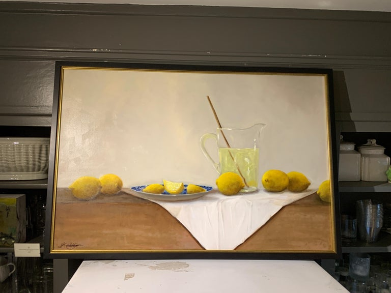 When Life Gives You Lemons by Ginny Williams, Framed Realist Still-Life Painting For Sale 1