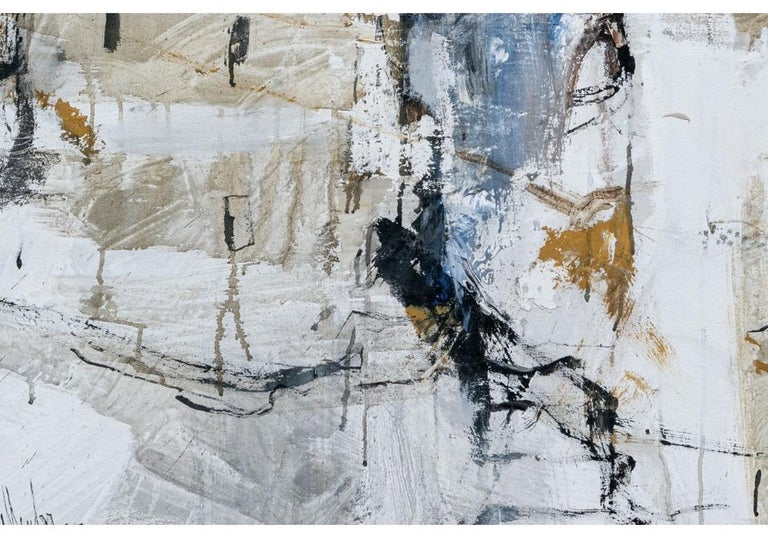 Mid-Century Modern Gino Hollander 'American' Massive Mid Century Abstract Village Paint For Sale