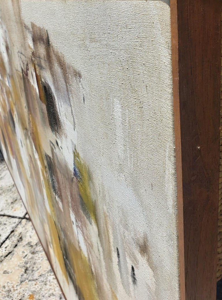 Wild  - Beige Abstract Painting by Gino Hollander