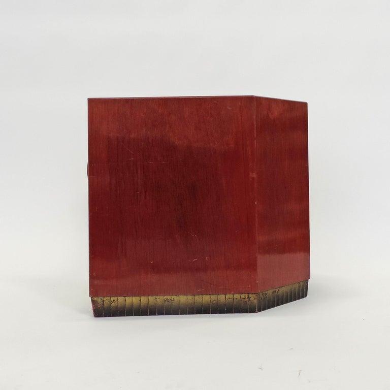 Gino Maggioni Red Stained Armchair for Arredamenti Borsani Varedo, Italy, 1920s For Sale 2