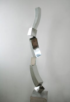 """""""Art"""" Abstract Sculpture in Stainless Steel Metal by Gino Miles"""