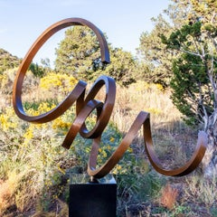 """""""Celestial"""" Kinetic Abstract Sculpture in Bronze Metal by Gino Miles"""
