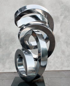 """""""Gizmo"""" Abstract Sculpture in Stainless Steel Metal by Gino Miles"""