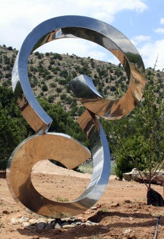 """Portico"" Abstract Sculpture in Stainless Steel Metal by Gino Miles"