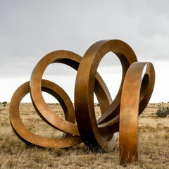 """Shelter"" Large Abstract Sculpture in Bronze Metal by Gino Miles"