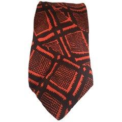 Gino Monetti brown orange multicoloured tie