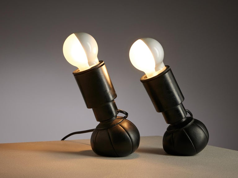 Lacquered Gino Sarfatti '600C' Table Lamps For Sale