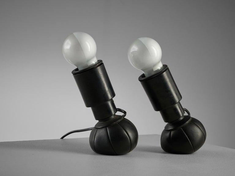 Aluminum Gino Sarfatti '600C' Table Lamps For Sale