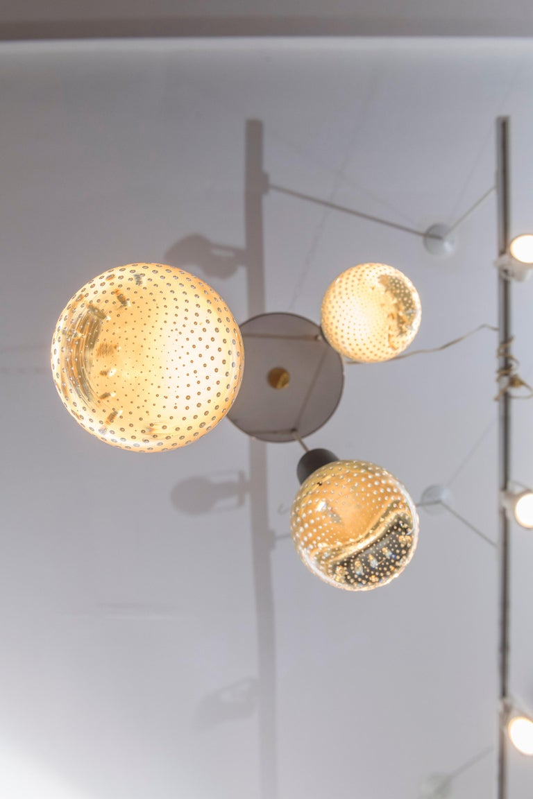 Mid-Century Modern Gino Sarfatti and Archimede Seguso Chandelier for Lightolier For Sale