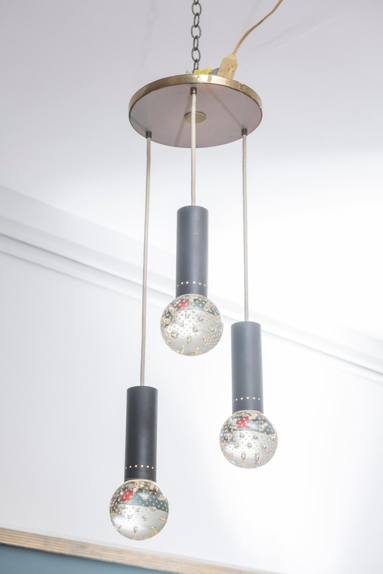 Glass Gino Sarfatti and Archimede Seguso Chandelier for Lightolier For Sale