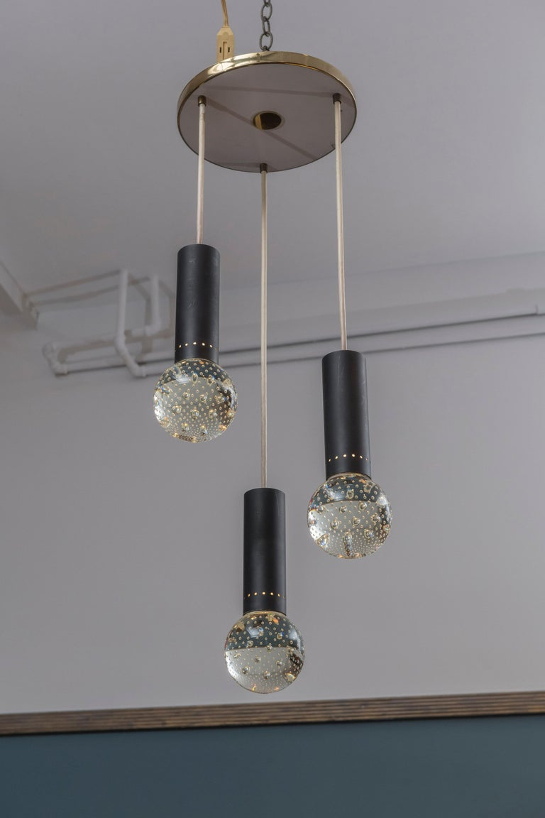 Gino Sarfatti and Archimede Seguso Chandelier for Lightolier For Sale 1