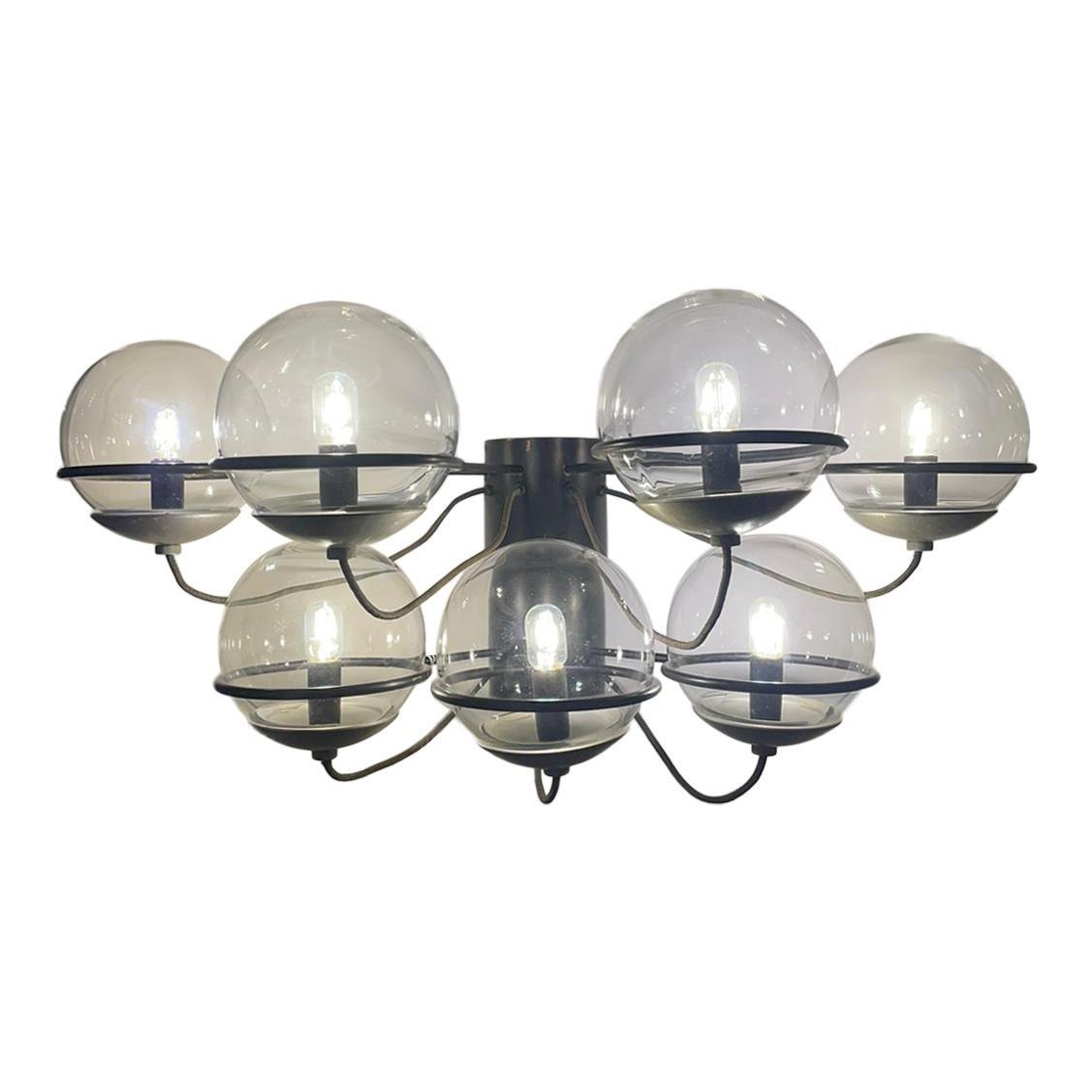 Gino Sarfatti Arteluce Mod. 237/7 Wall Light Lacquered Metal Glass, Italy, 1959