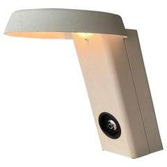 Gino Sarfatti Arteluce Mod. 607 White Aluminium Table Lamp, Italy, 1971