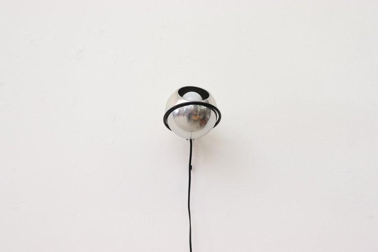 Italian Gino Sarfatti Chrome Globe Lamp For Sale