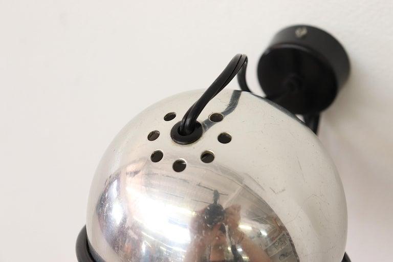 Gino Sarfatti Chrome Globe Lamp For Sale 1