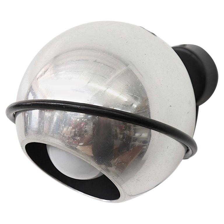 Gino Sarfatti Chrome Globe Lamp For Sale