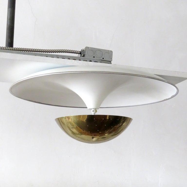 Mid-Century Modern Gino Sarfatti Flushmount Light, 1950 For Sale