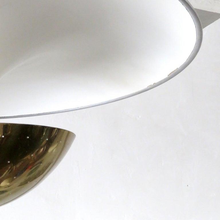 Enameled Gino Sarfatti Flushmount Light, 1950 For Sale