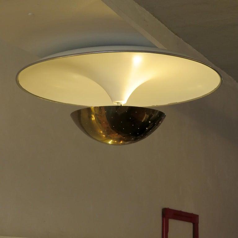 Brass Gino Sarfatti Flushmount Light, 1950 For Sale