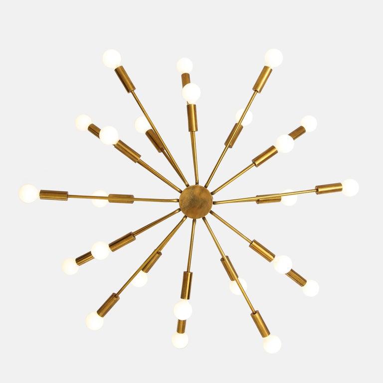 Brass Gino Sarfatti for Arteluce Chandelier Model 2003 For Sale