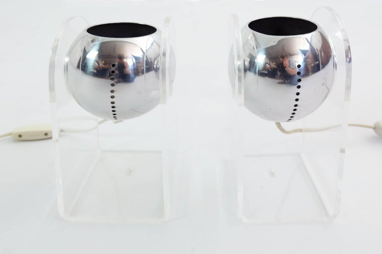 Italian Gino Sarfatti for Arteluce Pair of Table Lamps or Wall Sconces Mod. 540G For Sale