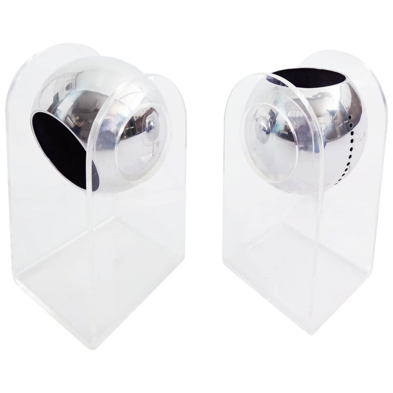 Gino Sarfatti for Arteluce Pair of Table Lamps or Wall Sconces Mod. 540G For Sale