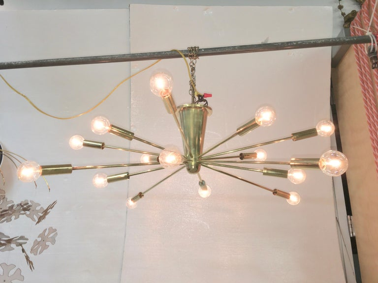 Gino Sarfatti for Lightolier Astral Sputnik In Good Condition For Sale In Hingham, MA