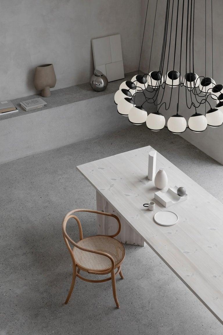 Italian Gino Sarfatti Lamp Model 2109/16/14 Black Structure For Sale