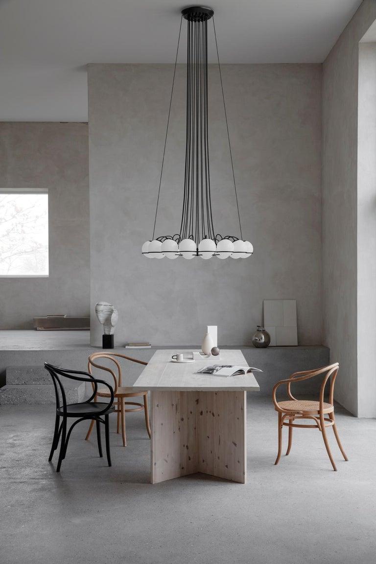 Contemporary Gino Sarfatti Lamp Model 2109/16/14 Black Structure For Sale