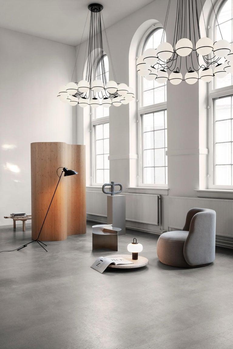 Gino Sarfatti Lamp Model 2109/16/14 Black Structure For Sale 2