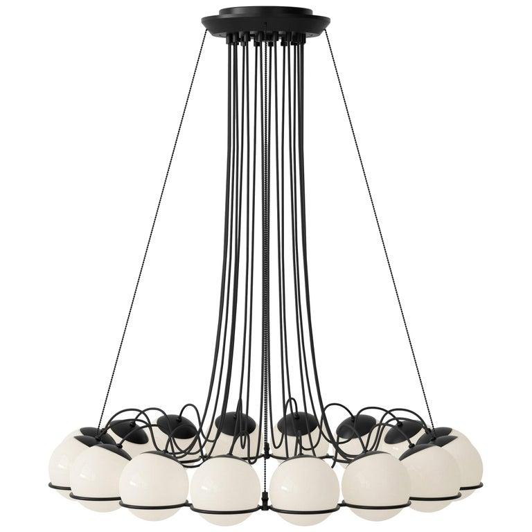 Gino Sarfatti Lamp Model 2109/16/14 Black Structure For Sale