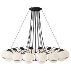 Gino Sarfatti Lamp Model 2109/16/20 Black Structure