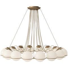 Gino Sarfatti Lamp Model 2109/16/20 Champagne Structure