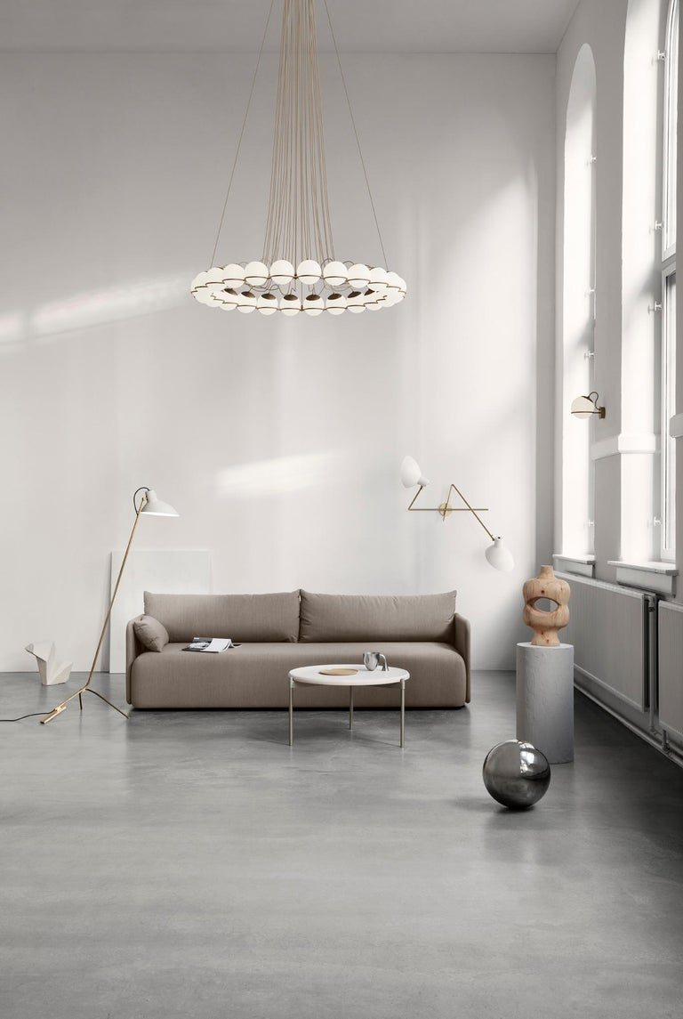 Italian Gino Sarfatti Lamp Model 238/1 Champagne Mount For Sale