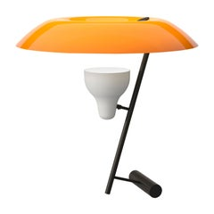 Gino Sarfatti Lamp Model 548 Burnished Brass with Orange Difuser