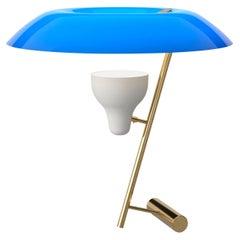 Gino Sarfatti Lamp Model 548 Polished Brass with Blue Difuser