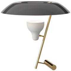Gino Sarfatti Lamp Model 548 Polished Brass with Grey Difuser