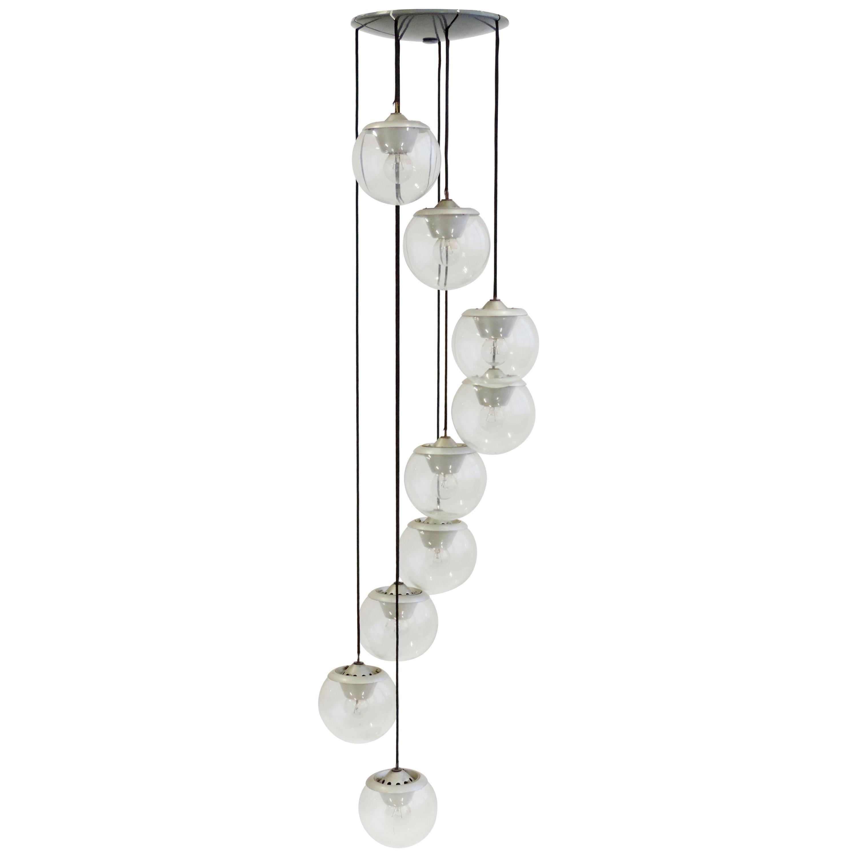 Gino Sarfatti Model 2095/9 Ceiling Lamp for Arteluce, Italy, 1958