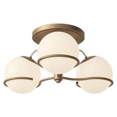 Gino Sarfatti Model 2042/3 Ceiling Light in Champagne