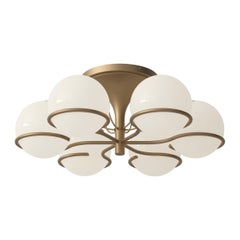 Gino Sarfatti Model 2042/6 Ceiling Light in Brass