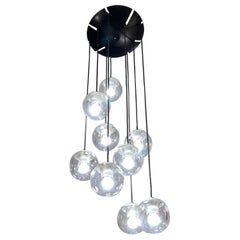 Gino Sarfatti Model 2095/9 Ceiling Lamp for Arteluce, Italy, 1958